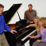 Group playing piano